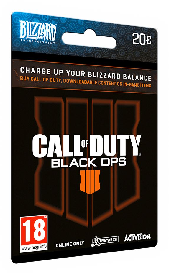 TARJETA DE CALL OF DUTY: BLACK OPS 4